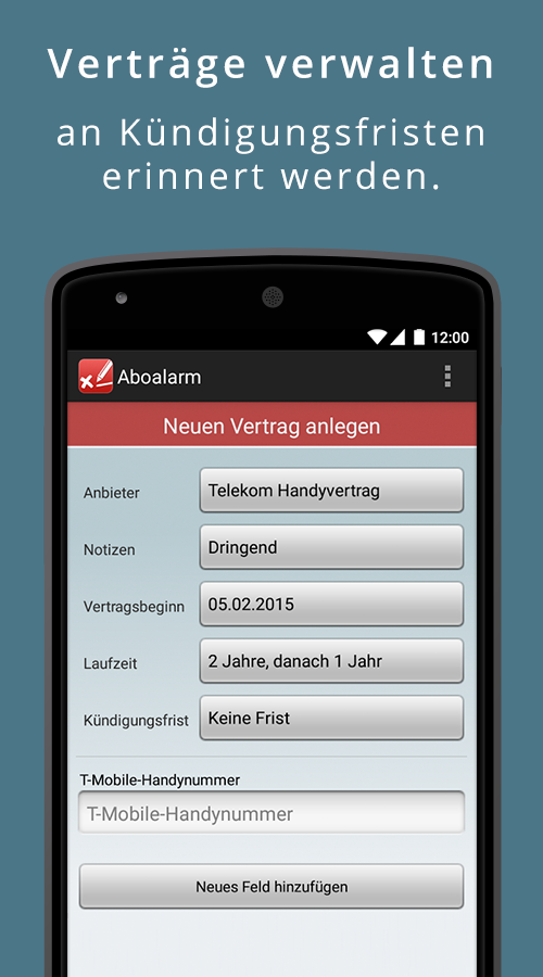 Aboalarm - screenshot