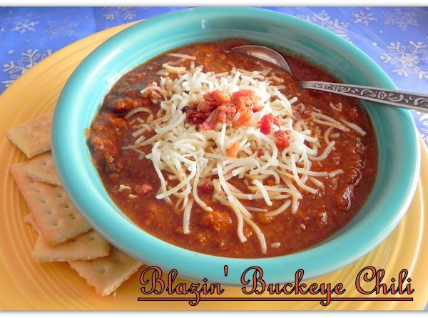 1/5/2014 --- My husband asked me to make him a batch of this chili....