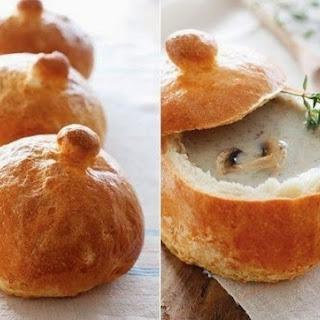 Mushroom Soup In Bread