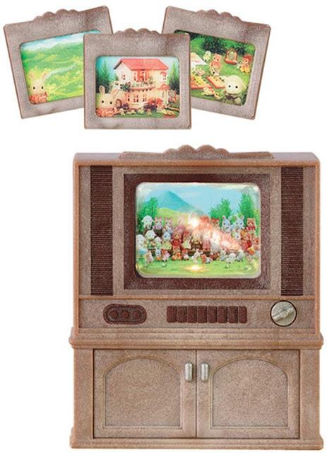 Contenido Real de Sylvanian Families Televisor Color Luxury