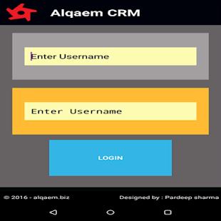 Alqaem CRM - náhled