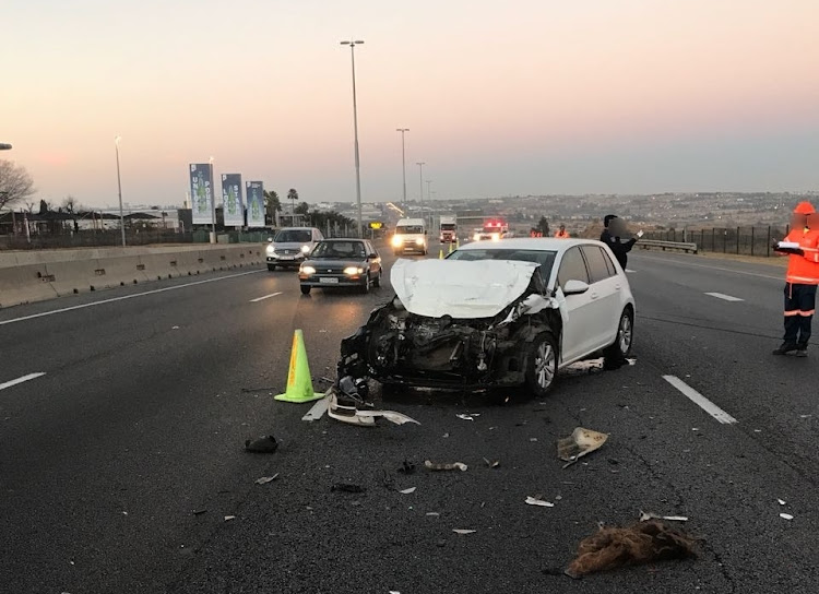 Two people died in a collision on the N1 Ben Schoeman Highway in Midrand on July 29 2018.