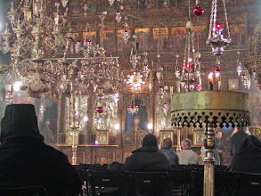 Photo: Today, the Church of the Nativity is administered jointly by Orthodox, Catholic and Armenian clerics.  Over the years, there have been many disputes over the operation of this holy site.