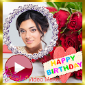 Birthday Video Maker Editor, Photo Slideshow Music icon