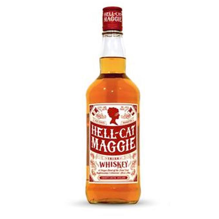 Logo for Hell-Cat Maggie Irish Whiskey