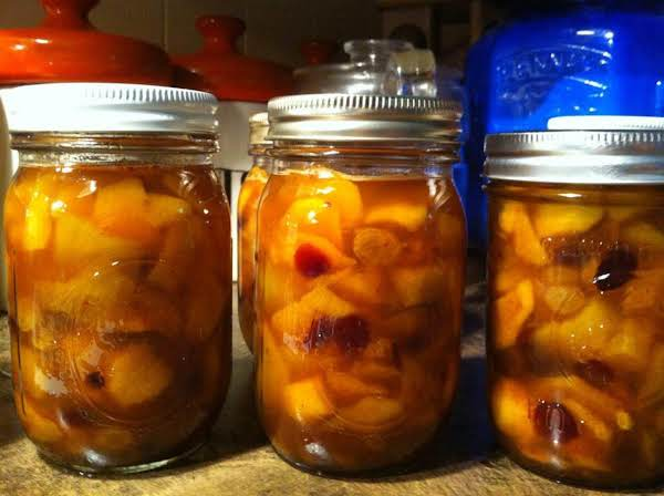 Peaches With Raisins And Cranberries Recipe