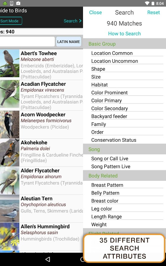 iBird Pro Birds North America- screenshot