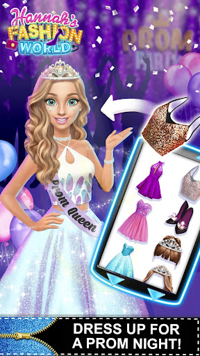 Hannahu2019s Fashion World - Dress Up & Makeup Salon  screenshots 5
