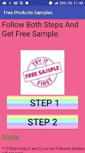 Free Products Samples - náhled