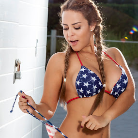 Happy 4TH of July! by Ugo Lora - People Portraits of Women ( ourtdoors, leidys ortiz, miami, late, 4th of july, bikini, south beach, portrait,  )