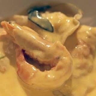 Scallops & Prawns In Saffron Beurre Blanc.