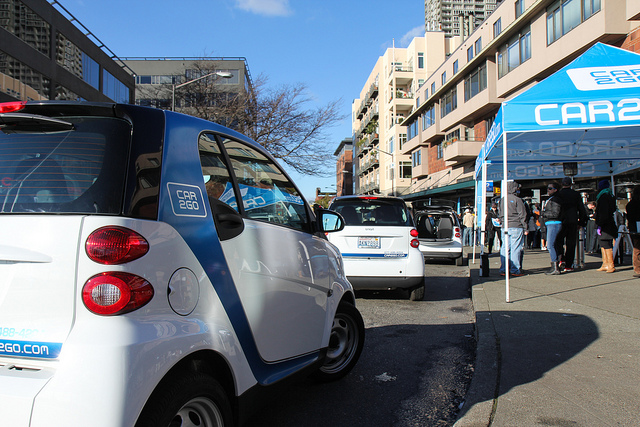 small electric cars line up for test drives