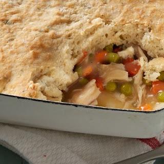 Turkey Pot Pie with Potato Biscuit Crust.