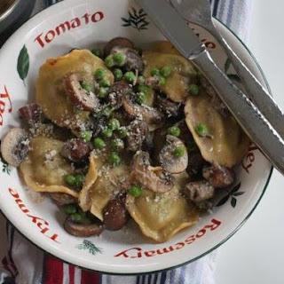 10 Minute Mushroom Ravioli