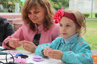 Photo: Мастер-класс по созданию цветов из ревелюра (пластичной замши, фоамирана)