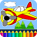 Planes: painting game for kids icon
