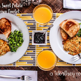 Zucchini & Sweet Potato Hash-Brown Omelet.