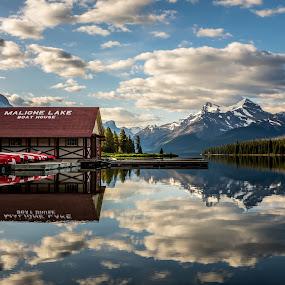 Maligne Lake by Matt Padgett - Landscapes Mountains & Hills