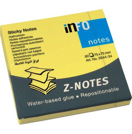 Notis Z-block 76x76 neongul