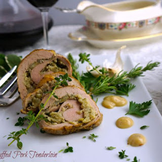 Herb-Stuffed Pork Tenderloin.