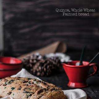Quinoa Whole Wheat Painted Bread.