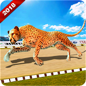 Wild Cheetah Racing Fever: Animal Simulator Race