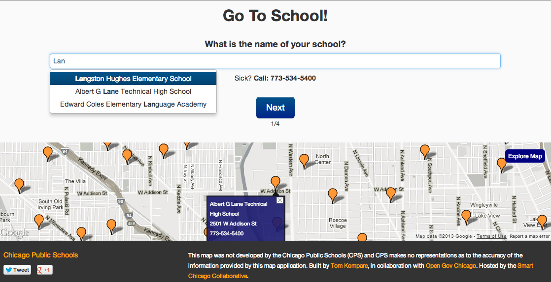 OpenGov Hack Night: Go2School and Business License Data