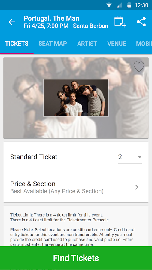 Ticketmaster Event Tickets- screenshot