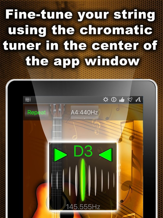 Chromatic Guitar Tuner- screenshot