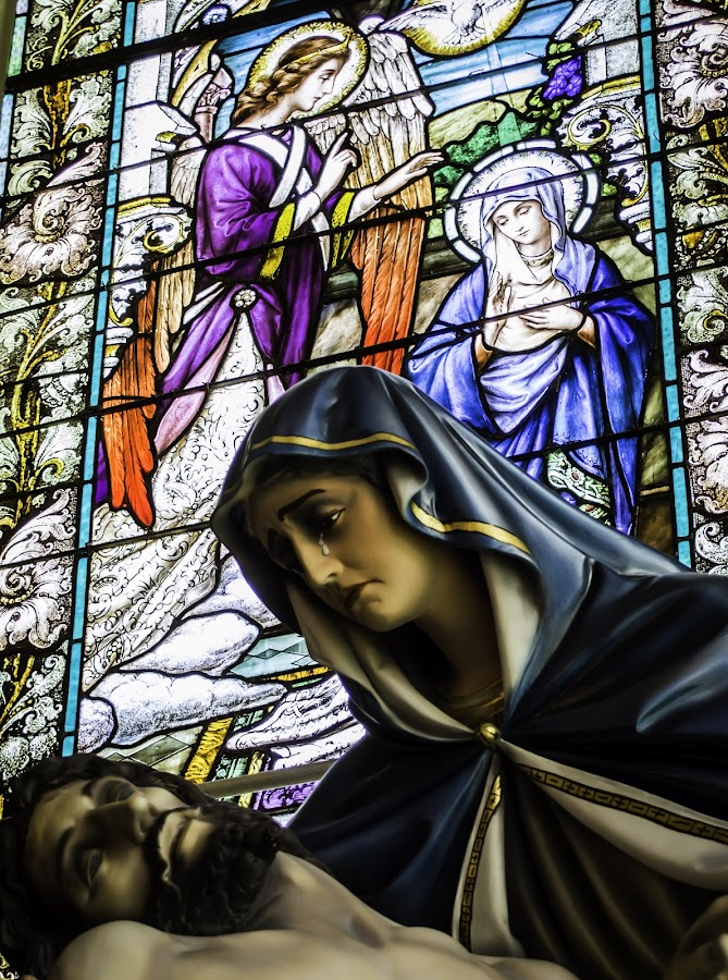 Her Son by Paul Frese - Buildings & Architecture Places of Worship ( statue, window, church, heaven, death, jesus, religious )
