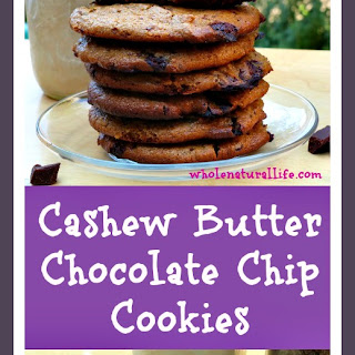 Cashew Butter Chocolate Chip Cookies (Gluten-free, Grain-free, Egg-free)