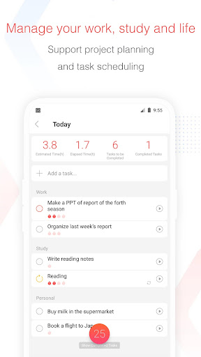 Focus To-Do: Pomodoro Timer & To Do List 10.1 Screenshots 3