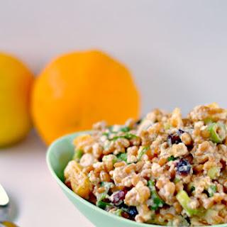 Spelt Salad with Oranges, Cranberries & Vegan Feta