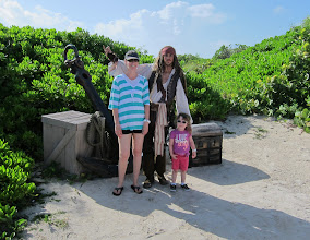 Photo: Visiting Castaway Cay with Jack Sparrow