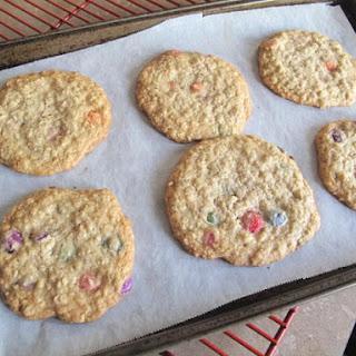 Smartie Oatmeal Cookies.
