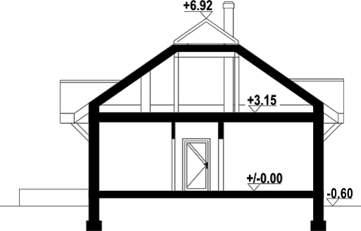 Antonin 25 - Przekrój