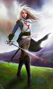 Fantasy live wallpaper (female commander, war) - náhled