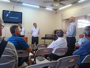Photo: Palestra do Pr. Geraldo Nunes - momento de comentários e perguntas.