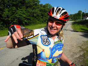 Photo: Carrie saves a turtle
