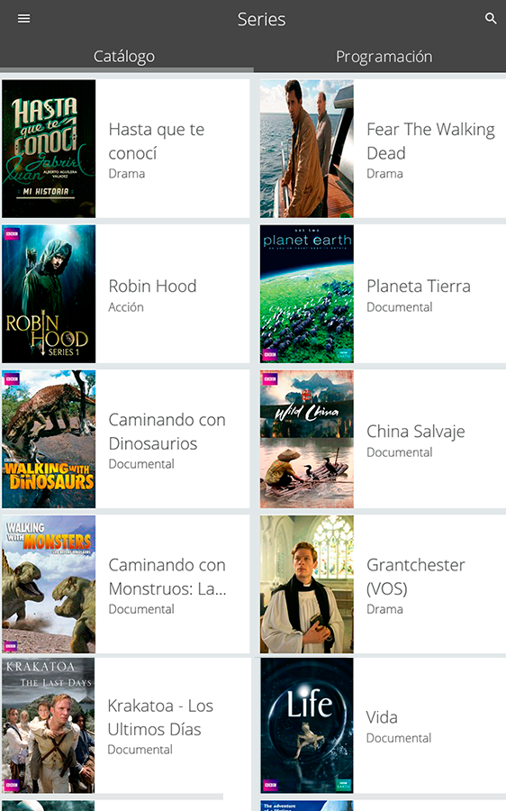 MovistarPlay: captura de pantalla