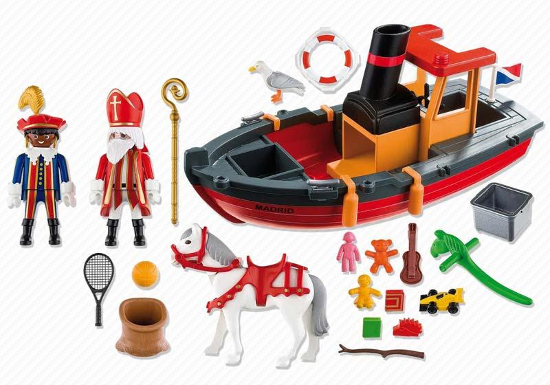 Contenido real de Playmobil® 5206 Barco Madrid de San Nicolas