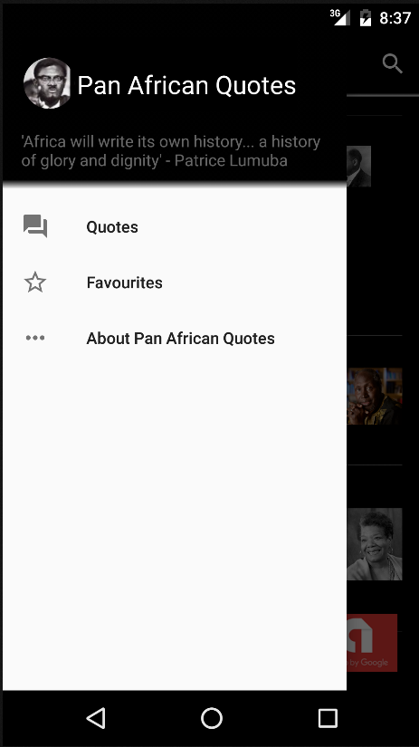 Pan African Quotes- screenshot