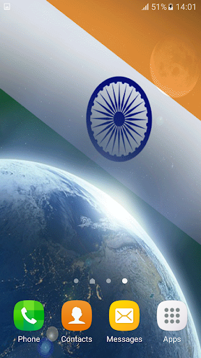 3D Indian Flag Live Wallpaper App Apk Free Download For Android PC