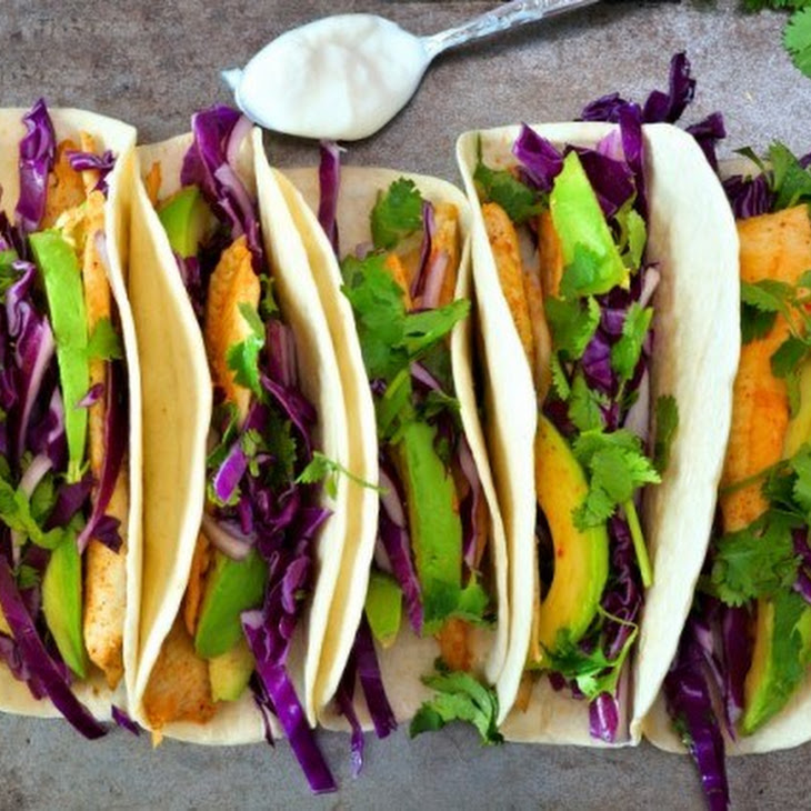 4. Grilled Fish Tacos with Lime-Cabbage Slaw