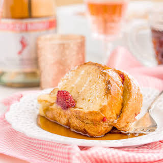 Champagne Raspberry Baked French Toast.