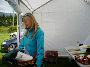 Photo: Organizer Breda at base camp in Anglesborough, Galtee Challenge/Crossing, June 30, 2013.