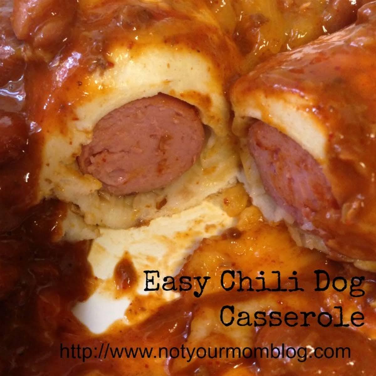 Easy Chili Dog Casserole