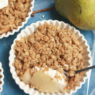 Pear and Ginger Crumble.