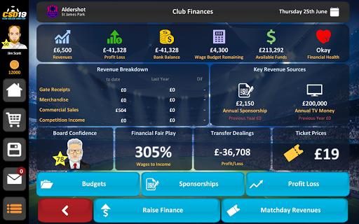 Club Soccer Director 2019 - Soccer Club Management 2.0.25 screenshots 22