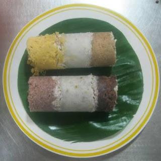 Mix Puttu(Colored Steamed Cake).
